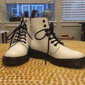 Dr Martens White Combat Boots 7/38